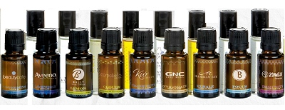 Custom label essential oil bottles and droppers with your company logo for health and wellness programs.